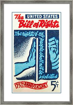The Bill Of Rights Stamp Framed Print