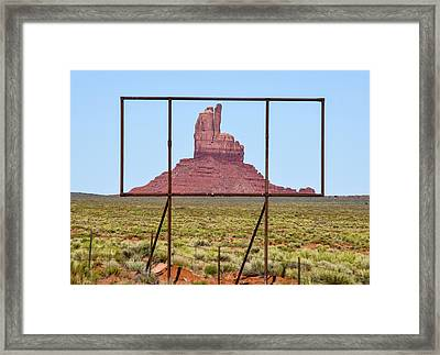 Utah Billboard Framed Print