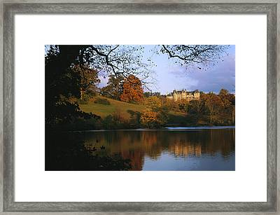 The Biltmore Estate Is Reflected Framed Print