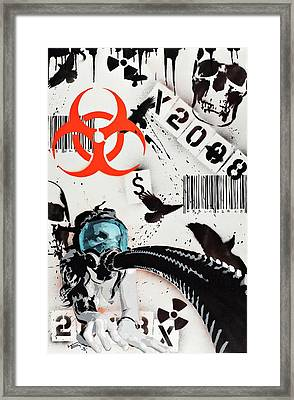 The Biohazard Bargain Barcode Framed Print by Tai Taeoalii