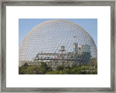 The Biosphere  Ile Sainte-helene Montreal Quebec Framed Print
