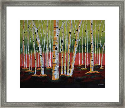 The Birch Forest - Landscape Painting Framed Print