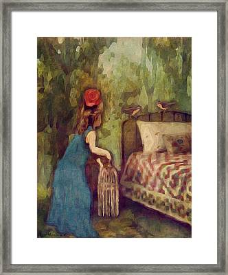 The Bird Catcher Framed Print by Lisa Noneman