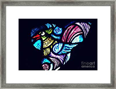 The Bird In The Window Framed Print by Sarah Loft
