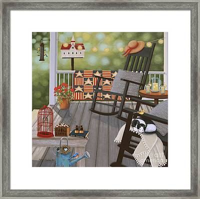 The Bird Watcher Framed Print by Mary Charles