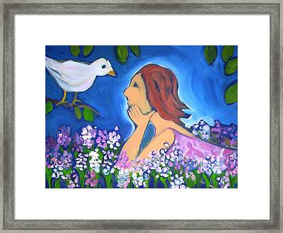 Framed Print featuring the painting The Bird by Winsome Gunning