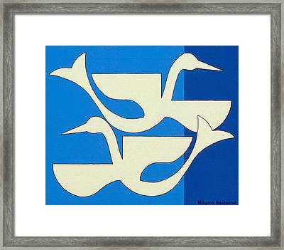 The Birds Framed Print by Hildegarde Handsaeme