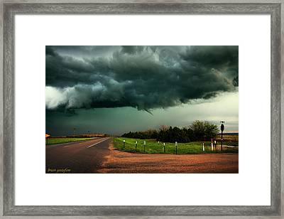 The Birth Of A Funnel Cloud Framed Print