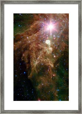 The Birth Of A Star In Outer Space Framed Print by American School