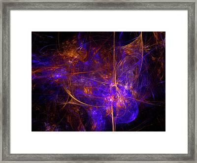 The Birth Of A Supernova Framed Print by Julia Bagryanskaya