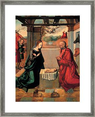 The Birth Of Christ And The Annunciation To The Shepherds Framed Print