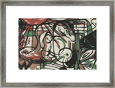 The Birth Of Horses  Geburt Der Pferde, 1913 Framed Print by Franz Marc