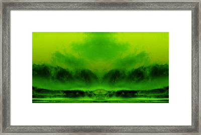 The Birth Of Maui Framed Print by Geoff Simmonds