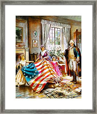 The Birth Of Old Glory Redux 20150710v2 Framed Print