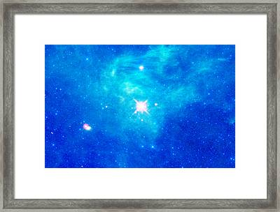 The Birth Of Stars In The Constellation Camelopardalis Framed Print