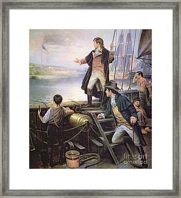 The Birth Of The Us National Anthem Framed Print