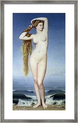 The Birth Of Venus Framed Print by Eugene Emmanuel Amaury Duval