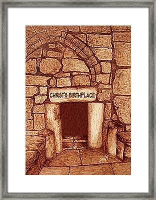 The Birthplace Of Christ Church Of The Nativity Framed Print by Georgeta Blanaru