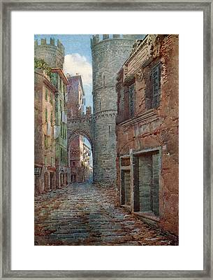 The Birthplace Of Columbus At Genoa Framed Print by Vintage Design Pics