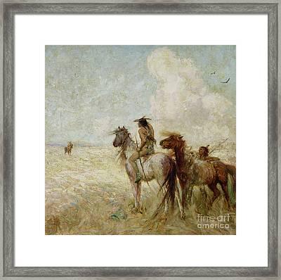 The Bison Hunters Framed Print