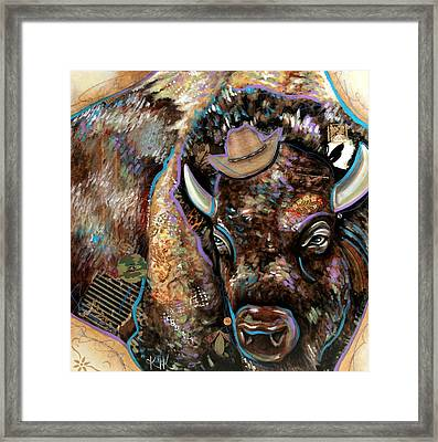 The Bison Framed Print