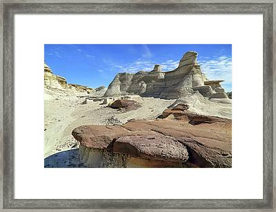 Framed Print featuring the photograph The Bisti Badlands - New Mexico - Landscape by Jason Politte