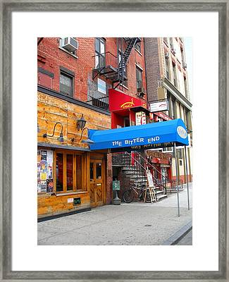 The Bitter End New York-greenwich Village Framed Print by Candace Garcia