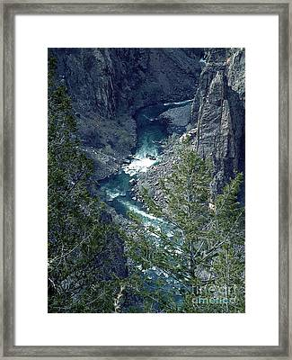 Framed Print featuring the painting The Black Canyon Of The Gunnison by RC DeWinter