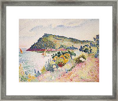 The Black Cape Pramousquier Bay Framed Print by Henri-Edmond Cross