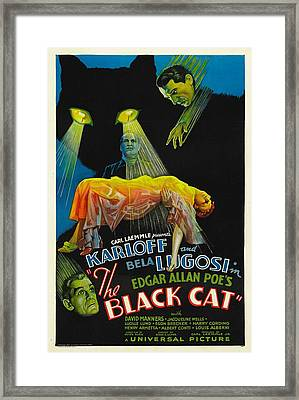 The Black Cat, Boris Karloff, Harry Framed Print by Everett