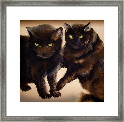 The Black Cat Eyes Have It Framed Print