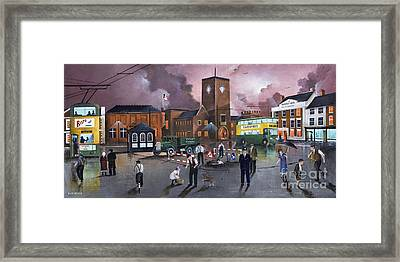 Dudley Trolley Bus Terminus 1950's Framed Print