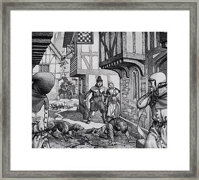 The Black Death Framed Print by Pat Nicolle