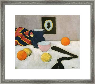 The Black Fan Framed Print by Francis Campbell Boileau Cadell