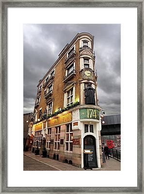 The Black Friar London Pub Bar Framed Print by Gill Billington