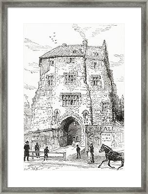 The Black Gate, The Fortified Gatehouse Framed Print