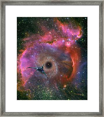 The Black Hole Beckons Framed Print by David Jackson