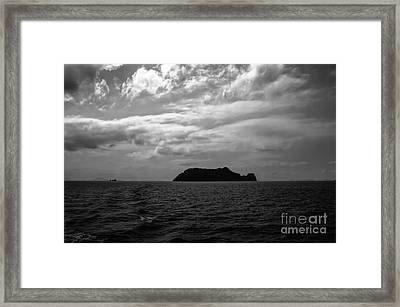 The Black Island Framed Print by Michelle Meenawong