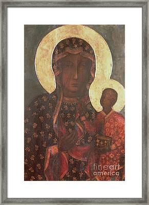 The Black Madonna Of Jasna Gora Framed Print