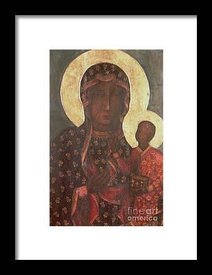 Black Madonna Framed Prints