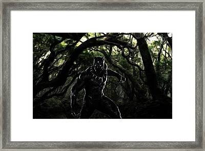 The Black Panther Framed Print by The DigArtisT