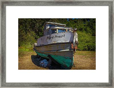 The Black Pearl Framed Print by Garry Gay