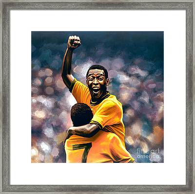 The Black Pearl Pele  Framed Print by Paul Meijering