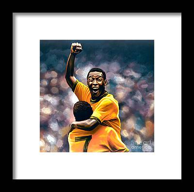 Pele Framed Prints