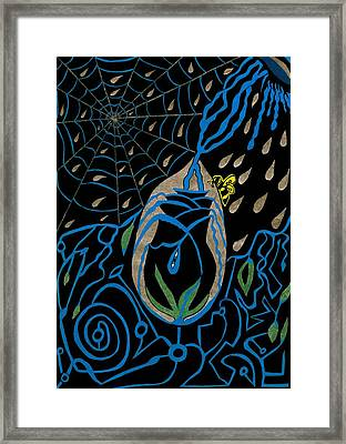 The Black Rose Framed Print by Michelle Meaney