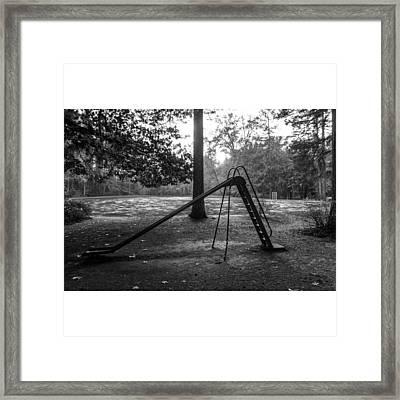 The Black Slide.  Framed Print by Carter Sullivan III