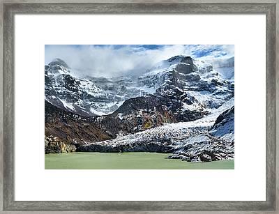 The Black Snowdrift Glacier Framed Print