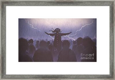 The Black Wizard Framed Print