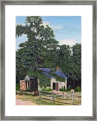 The Blacksmith Shop Framed Print by Donald Hofer