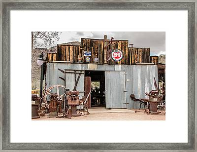 The Blacksmith Shop Framed Print